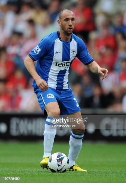 Ivan Ramis of Wigan Athletic during the Barclays Premier League match between Southampton and Wigan Athletic at St Mary's Stadium on August 25 2012...