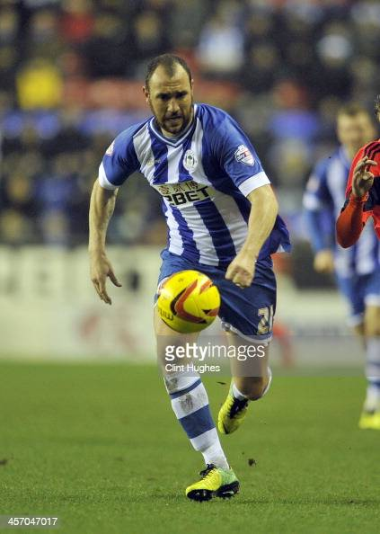 Ivan Ramis of Wigan Athletic during the Sky Bet Championship match between Wigan Athletic and Bolton Wanderers at the DW Stadium on December 15 2013...