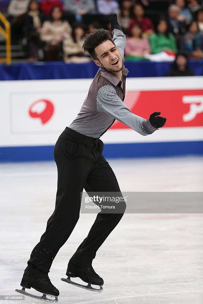 Ivan Righini of Italy competes in the Men's Free Skating during ISU World Figure Skating Championships at Saitama Super Arena on March 28, 2014 in Saitama, Japan.