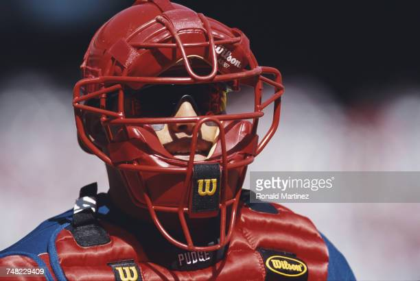 Ivan Rodriguez catcher for theTexas Rangers during the Major League Baseball American League West game against the Chicago White Sox on 5 April 2000...