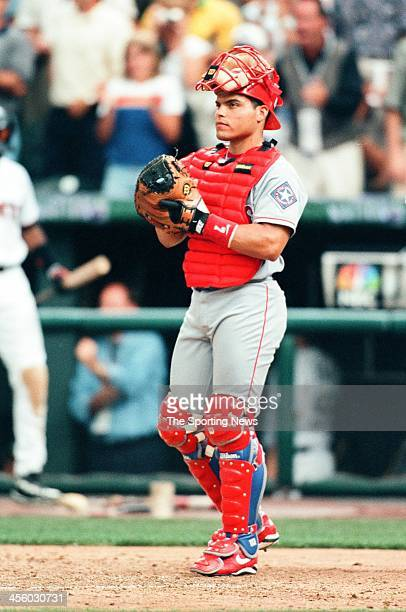 Ivan Rodriguez of the Texas Rangers during the AllStar Game on July 7 1998 at Coors Field in Denver Colorado