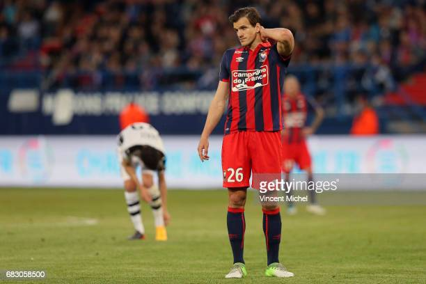 Ivan Santini of Caen during the Ligue 1 match between SM Caen and Stade Rennais Rennes at Stade Michel D'Ornano on May 14 2017 in Caen France