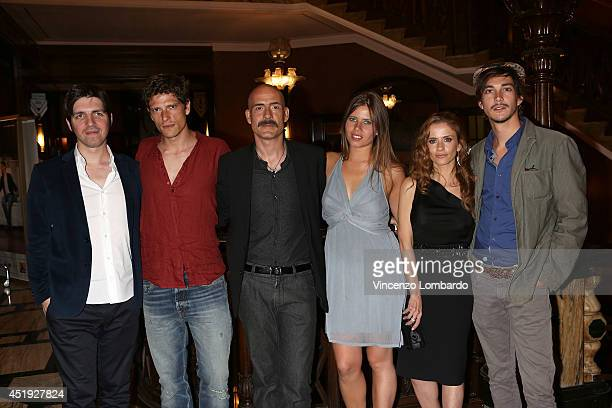 Ivan Silvestrini Matteo Martari Gianmarco Tognazi Lucrezia Pivato Chiara Iezzi and Josè Dammert attend the Under The Series Web Series Premiere on...
