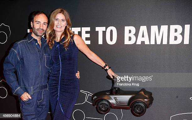 Ivan Strano and Sarah Wiener attend the Tribute To Bambi 2014 on September 25 2014 in Berlin Germany