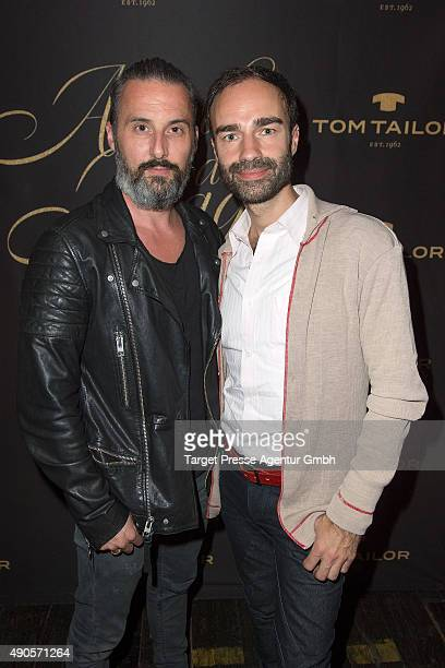 Ivan Strano and Tobias Bojko attend the charity event 'Ein Abend der Magie' by Tom Tailor at Soho House on September 29 2015 in Berlin Germany