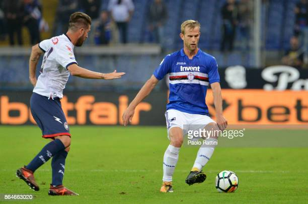 Ivan Strinic in action during the Serie A match between UC Sampdoria and FC Crotone at Stadio Luigi Ferraris on October 21 2017 in Genoa Italy