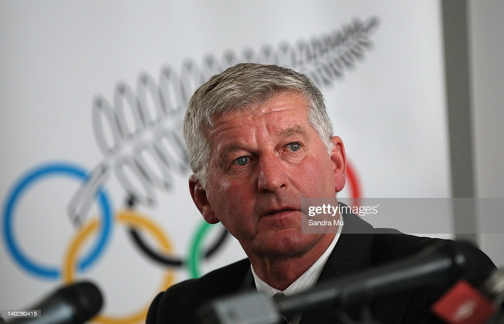 Ivan Sutherland, Chairman of New Zealand Rowing reads the names during a press conference to announce the New Zealand 2012 rowing team at Lake Karapiro on March 2, 2012 in Cambridge, New Zealand.