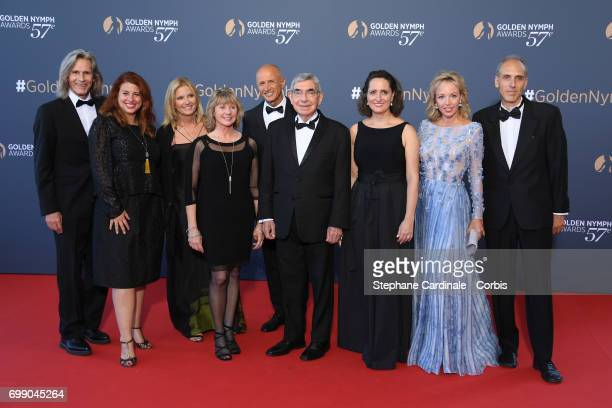 Ivan Suvanjieff Dawn Eagle Oscar Arias and Camilla De Bourbon des Deux Siciles attend the Closing Ceremony of the 57th Monte Carlo TV Festival on...