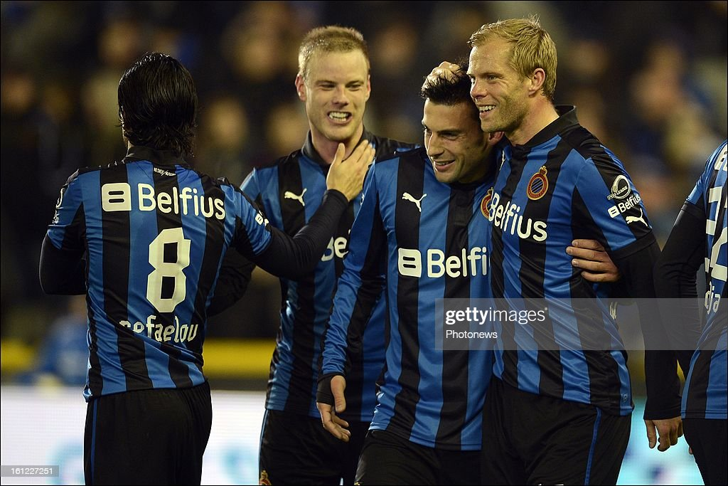 Ivan Trickovski of Club Brugge KV celebrates scoring a goal during the Jupiler Pro League match between Club Brugge KV and Oud Heverlee Leuven on February 9, 2013 in Brugge, Belgium.