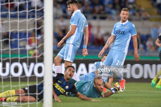Ivan Vargic during the Italian Serie A football match between SS Lazio and FC Inter at the Olympic Stadium in Rome on may 21 2017