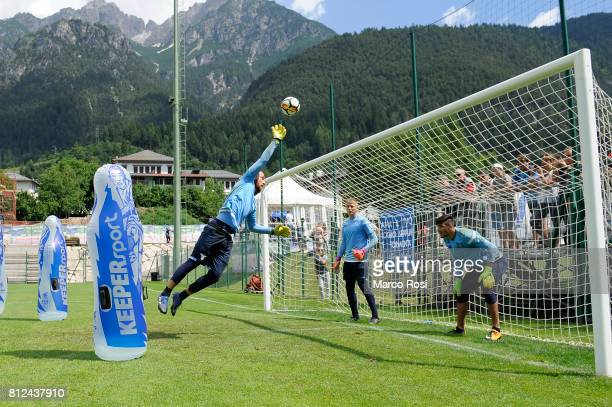 Ivan Vargic during the SS Lazio traning Camp Day 3 on July 11 2017 in Pieve di Cadore Italy
