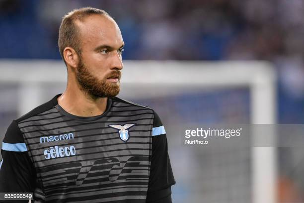 Ivan Vargic of Lazio during the Serie A match between Lazio and Spal at Stadio Olimpico Rome Italy on 20 August 2017