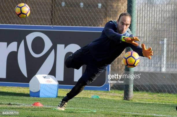 Ivan Vargic of SS Lazio during the SS Lazio training session on February 21 2017 in Rome Italy