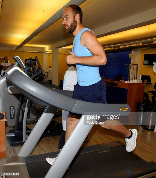Ivan Vargic of SS Lazio in action during the SS Lazio strength tests on July 5 2017 in Rome Italy