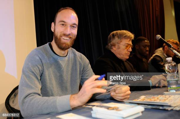 Ivan Vargic of SS Lazio players during meet school students on February 9 2017 in Rome Italy