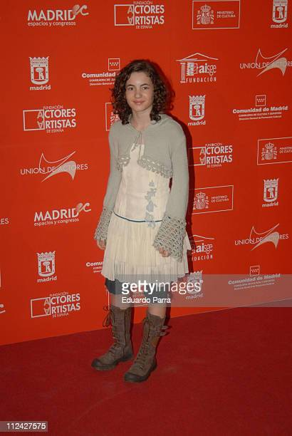 Ivana Baquero during Actors Union Awards Madrid February 12 2007 in Madrid Spain