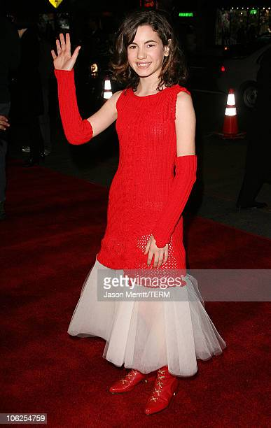 Ivana Baquero during 'Pan's Labyrinth' Los Angeles Screening Arrivals at Egyptian Theater in Hollywood California United States