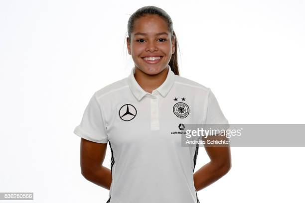 Ivana Fuso poses during Germany U17 Girl's Team Presentation on August 20 2017 in Gruenberg Germany