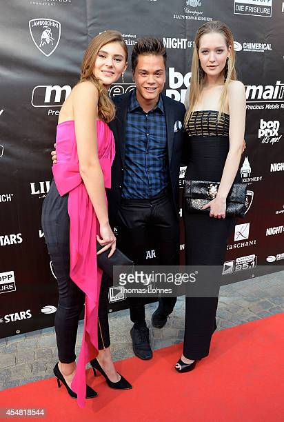 Ivana Teklic Christopher Schnell and Stefanie Giesinger attend dance gala performance 'Night Of The Stars 2014' on September 6 2014 in Aschaffenburg...