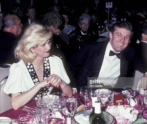 Ivana Trump and Donald Trump attend 38th Annual Horatio Alger Awards Dinner on May 10 1985 at the Waldorf Hotel in New York City