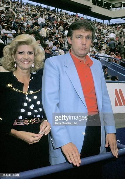 Ivana Trump and Donald Trump during 1988 US Open at Flushing Meadows Corona Park in New York City New York United States
