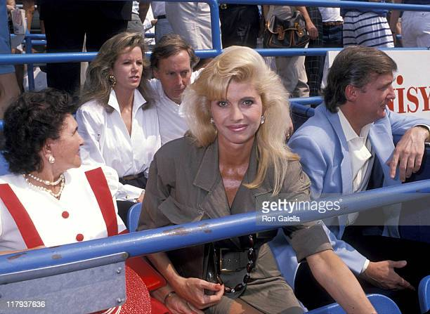 Ivana Trump and Donald Trump during 1989 US Open Celebrity Sightings September 9 1989 at Flushing Meadow in Queens New York United States
