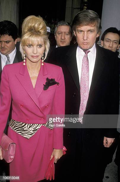 Ivana Trump and Donald Trump during Easter Dinner at the Plaza Hotel April 15 1990 at Plaza Hotel in New York City New York United States