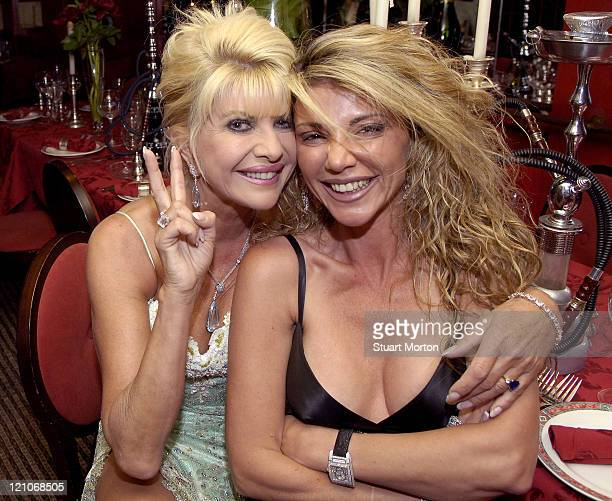 Ivana Trump and guest during The Grand Opening of Da Rossano at Da Rossano in St Tropez France