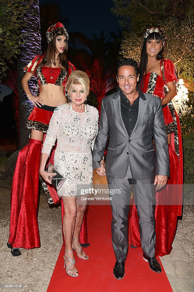 Ivana Trump and Marcantonio Rota attend Monika Bacardi Summer Party 2014 St Tropez at Les Moulins de Ramatuelle on July 27, 2014 in Saint-Tropez, France.