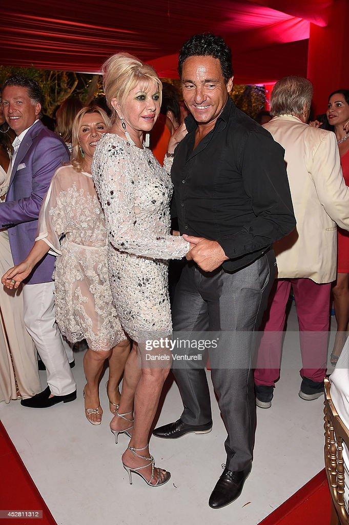 Ivana Trump and Marcantonio Rota attend Monika Bacardi Summer Party 2014 St Tropez at Les Moulins de Ramatuelle on July 27, 2014 in Saint-Tropez, France.
