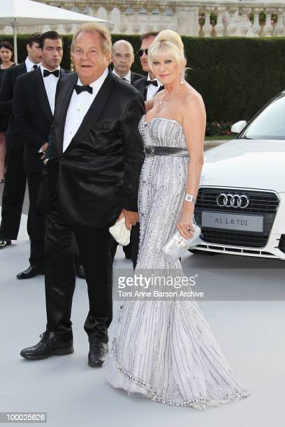 Ivana Trump and Massimo Gargia attend the amfAR Cinema Against AIDS 2010 at the Hotel du Cap during the 63rd Annual Cannes Film Festival on May 20...