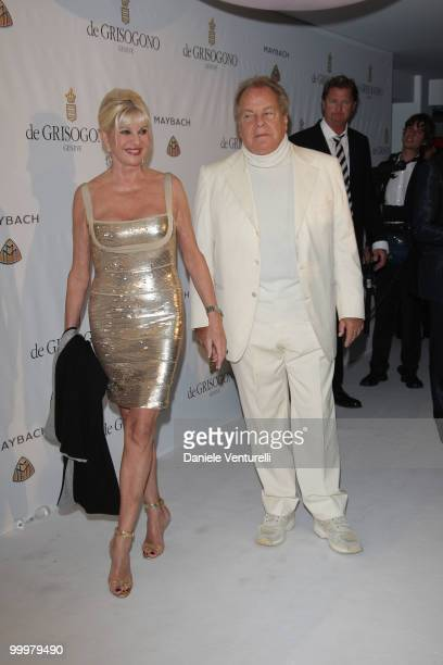 Ivana Trump and Massimo Gargia attend the de Grisogono party at the Hotel Du Cap on May 18 2010 in Cap D'Antibes France