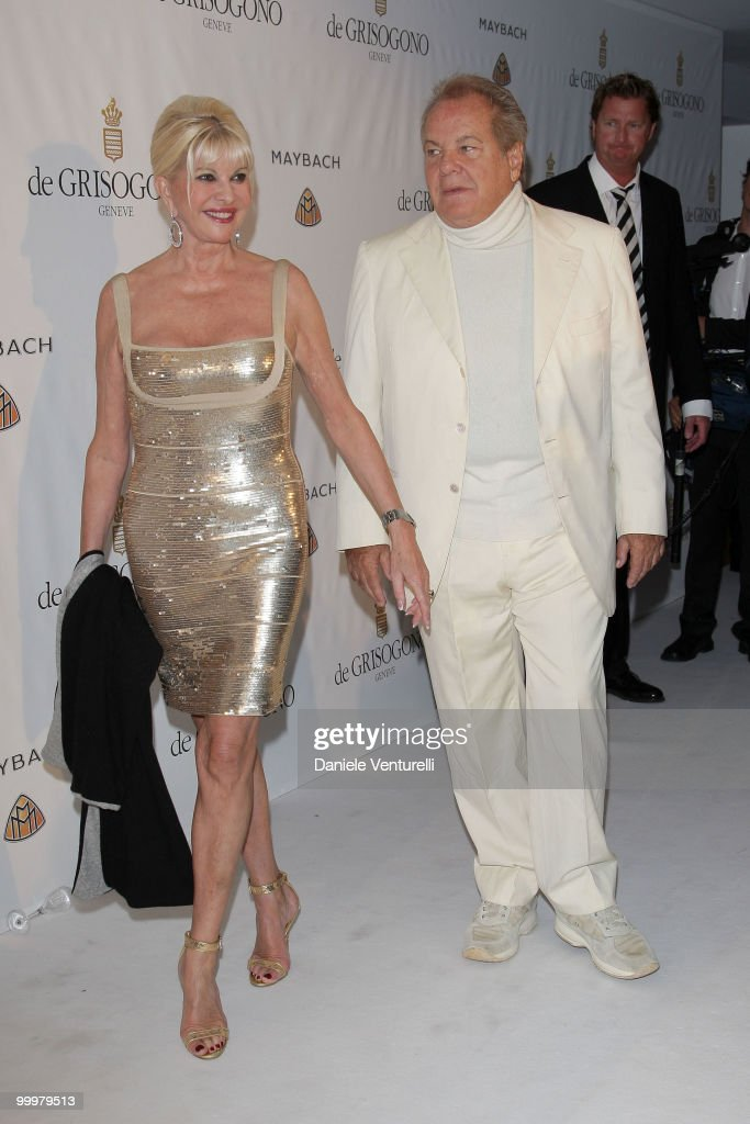 Ivana Trump (L) and Massimo Gargia attend the de Grisogono party at the Hotel Du Cap on May 18, 2010 in Cap D'Antibes, France.