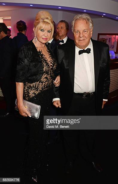 Ivana Trump and Massimo Gargia attend the de Grisogono party during the 69th Cannes Film Festival at Hotel du CapEdenRoc on May 17 2016 in Cap...