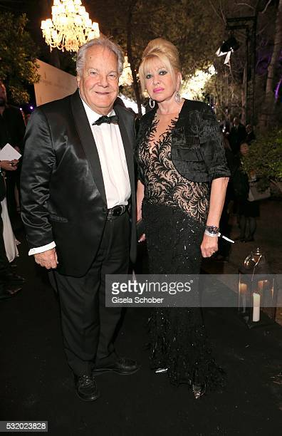Ivana Trump and Massimo Gargia during the 'De Grisogono' Party at the annual 69th Cannes Film Festival at Hotel du CapEdenRoc on May 17 2016 in Cap...