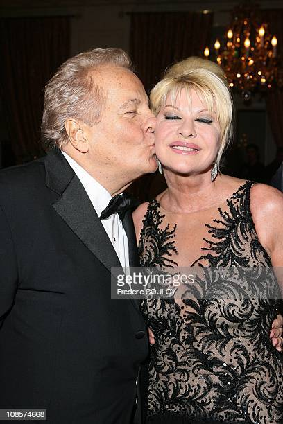 Ivana Trump and Massimo Gargia in Paris France on December 01 2008