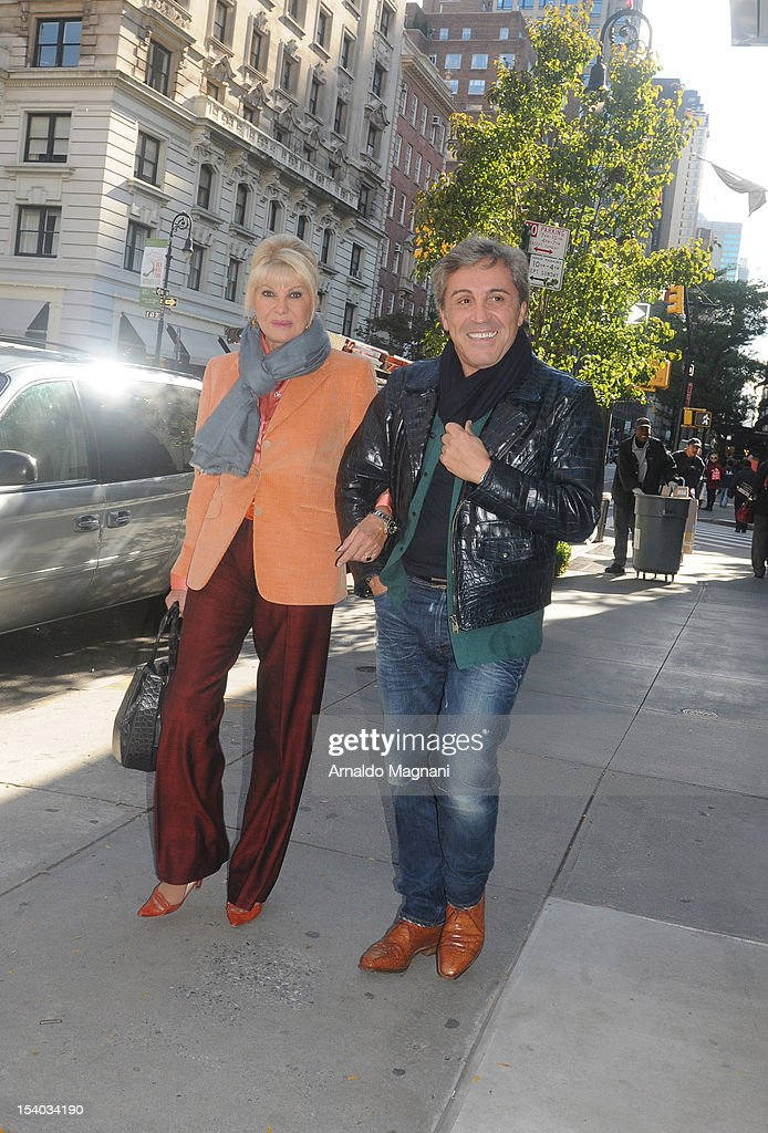 Ivana Trump and Michael Kennedy are seen near Amarant Restaurant on October 12, 2012 in New York City.