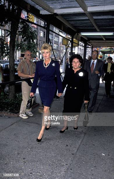 Ivana Trump and Mother Maria Zelnicek during Fred Trump's Funeral at Marble Collegiate Church in New York City New York United States