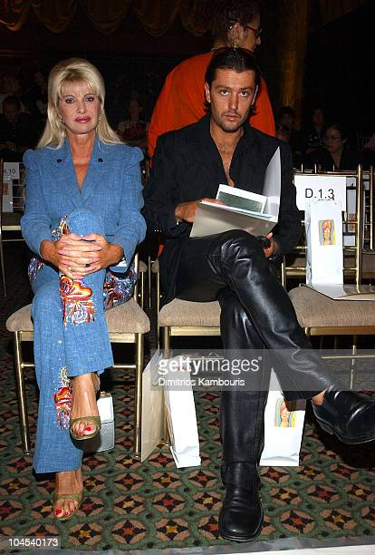 Ivana Trump and Rossa Rubicondi during MercedesBenz Fashion Week Spring Collections 2003 Rosa Cha Show Front Row at Cipriani 42nd Street in New York...