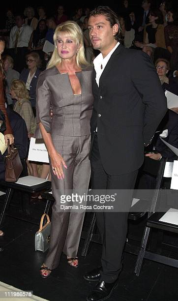 Ivana Trump and Rossa Rubicondi during MercedesBenz Fashion Week Spring Collections 2003 Oscar de la Renta Show Runway and Front Row in New York City...