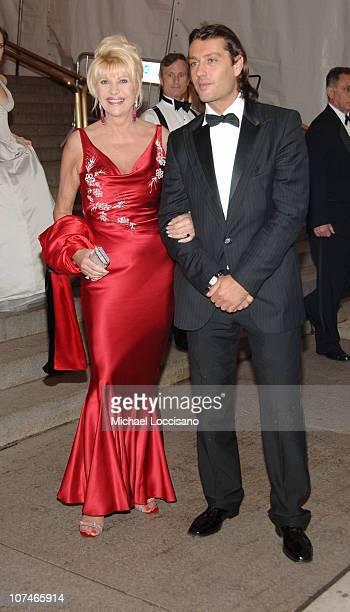 Ivana Trump and Rossano Rubicondi during 'Chanel' Costume Institute Gala Opening at the Metropolitan Museum of Art Departures at The Metropolitan...