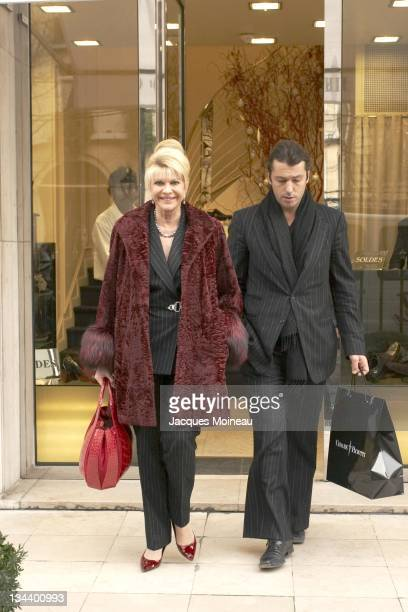 Ivana Trump and Rossano Rubicondi during Ivana Trump and Rossano Rubicondi Sighting in Paris January 22 2007 in Paris France