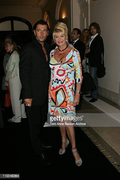 Ivana Trump and Rossano Rubicondi during Paris Haute Couture Fashion Week Fall/Winter 2005 Givenchy Arrivals at Givenchy in Paris France