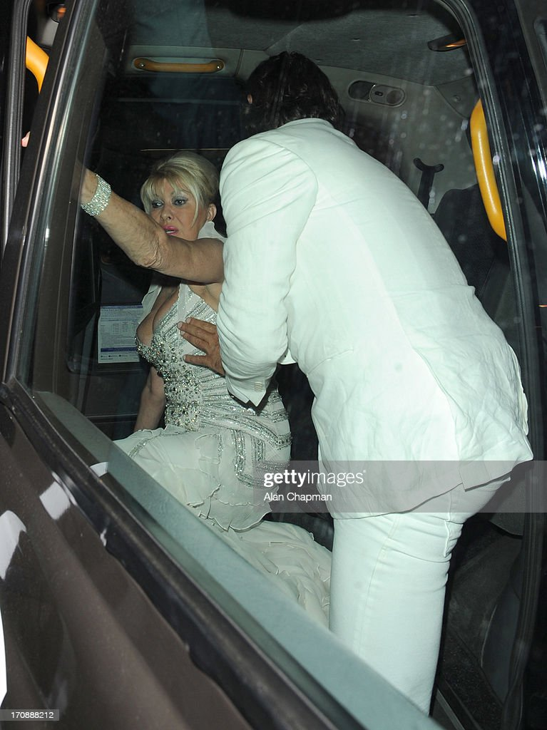 Ivana Trump and Rossano Rubicondi sighting at Annabels, Berkeley Square, Mayfair on June 19, 2013 in London, England.