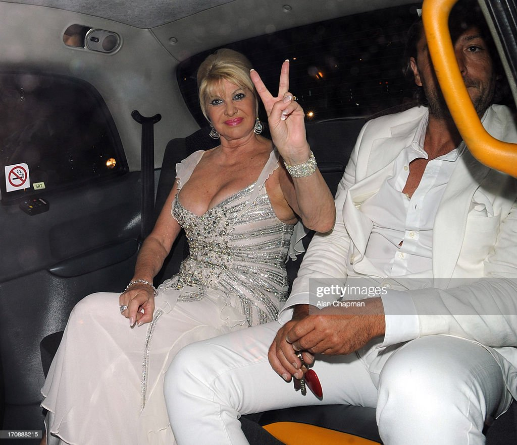 Ivana Trump and Rossano Rubicondi sighting at Annabels on June 19, 2013 in London, England.
