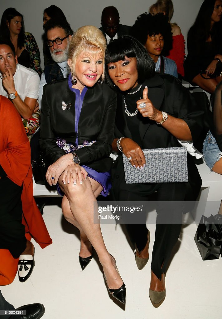 Ivana Trump (L) and singer Patti LaBelle attend the Zang Toi fashion show during New York Fashion Week: The Shows at Gallery 3, Skylight Clarkson Sq on September 13, 2017 in New York City.