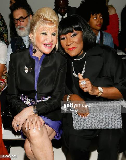 Ivana Trump and singer Patti LaBelle attend the Zang Toi fashion show during New York Fashion Week The Shows at Gallery 3 Skylight Clarkson Sq on...