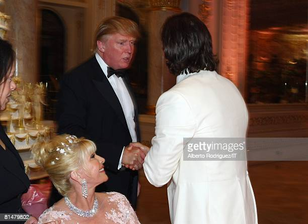 RATES Ivana Trump as Donald Trump greets Rossano Rubicondi during the reception for the wedding of Ivana Trump and Rossano Rubicondi at the MaraLago...