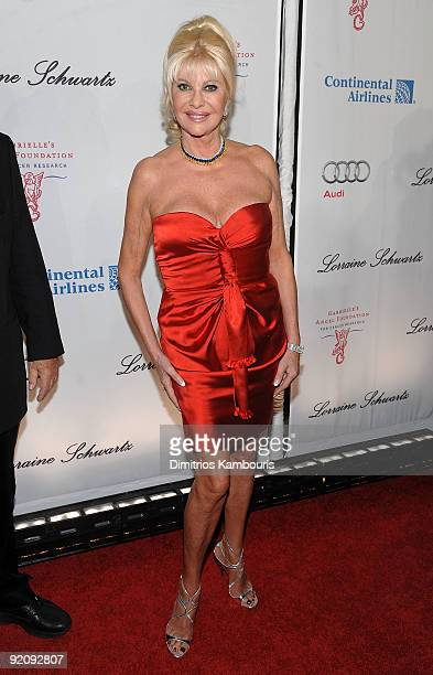 Ivana Trump attends 2009 Angel Ball to Benefit Gabrielle�s Angel Foundation hosted by Denise Rich at Cipriani Wall Street on October 20 2009 in New...