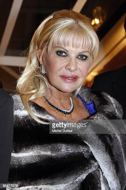 Ivana Trump attends 'The Best Awards 2009' hosted by Massimo Gargia at Salon Hoche on December 14 2009 in Paris France